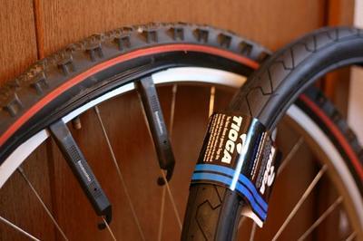 自転車の 自転車のタイヤサイズ 選び方 : 注文してあったMTBスリックが