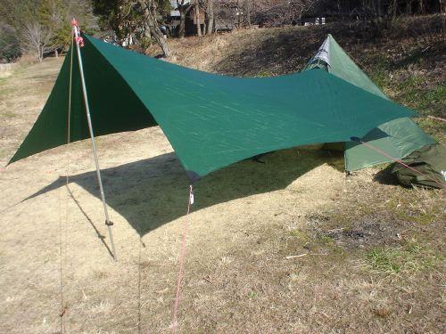 Shangri-La 3 Ever Green & Hilleberg Tarp 10 Exp
