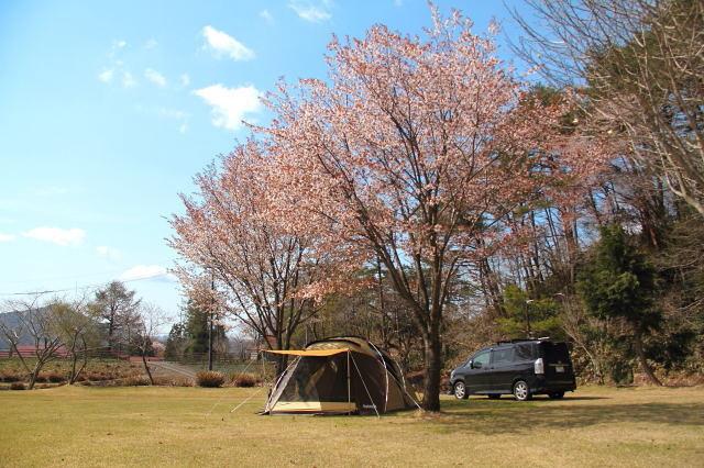 春キャンプ 中蒜山