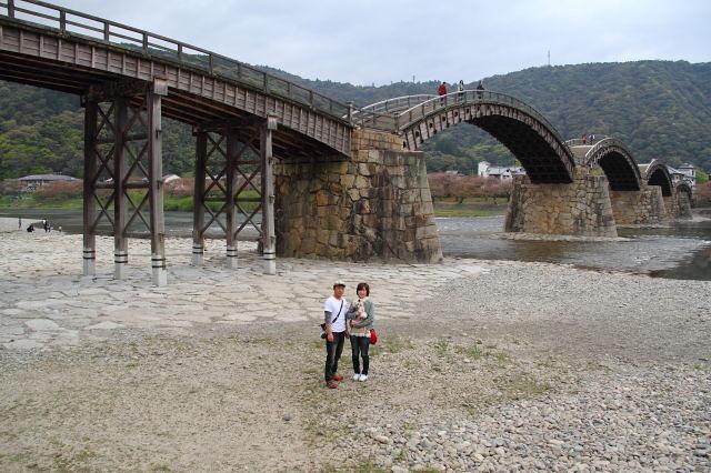 ランと散歩 錦帯橋