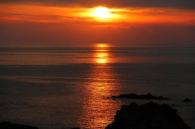 夕日〜叶崎海岸から