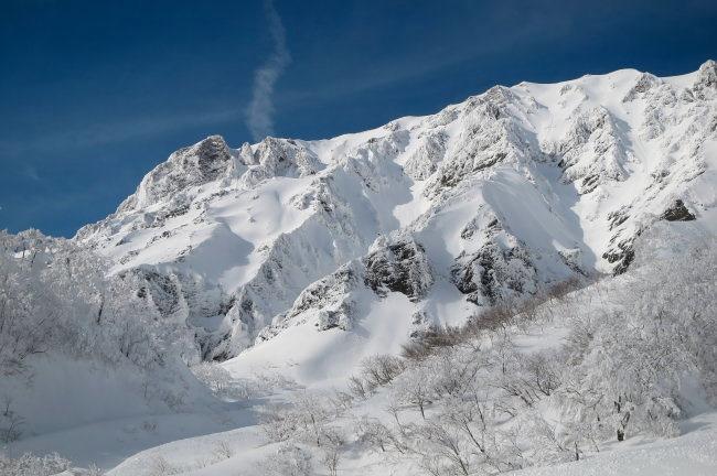 大山 雪の二ノ沢左俣