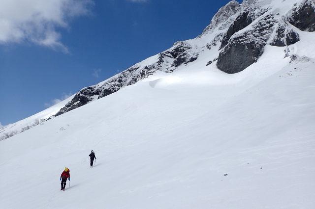 大山南壁 雪の一ノ沢探訪