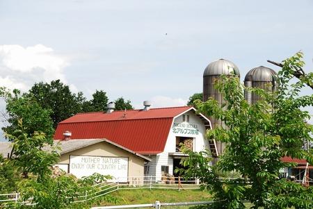 北アルプス牧場 少し前の写真だけど、今住んでいる家から最も近い牧場、北アルプス牧場。 ソフトクリ