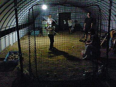 自宅練習場の練習風景写真